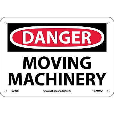 Danger, Moving Machinery, 7X10, Rigid Plastic