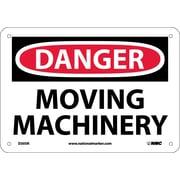 Danger, Moving Machinery, 7X10, Rigid Plastic