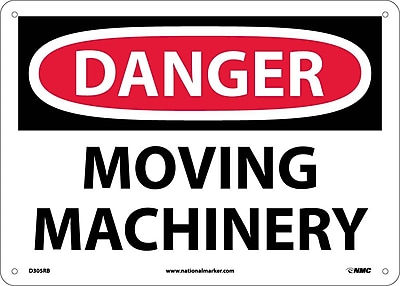 Danger, Moving Machinery, 10X14, Rigid Plastic