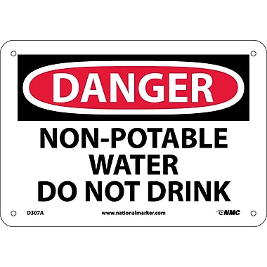 Danger, Non-Potable Water Do Not Drink, 7X10, .040 Aluminum