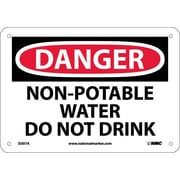 Danger, Non-Potable Water Do Not Drink, 7X10, .040 Aluminum