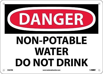 Danger, Non Potable Water Do Not Drink, 10X14, Rigid Plastic