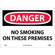 Danger, No Smoking On These Premises, 10X14, .040 Aluminum