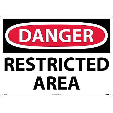 Danger, Restricted Area, 20