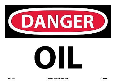 Danger, Oil, 10X14, Adhesive Vinyl