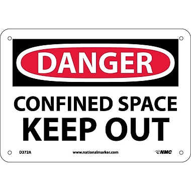 Danger, Confined Space Keep Out, 7