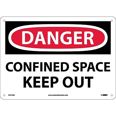 Danger, Confined Space Keep Out, 10X14, .040 Aluminum