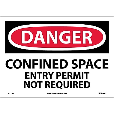 Danger, Confined Space Entry Permit Not Required, 10