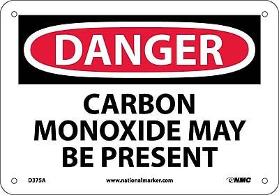 Danger, Carbon Monoxide May Be Present, 7X10, .040 Aluminum