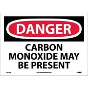 Danger, Carbon Monoxide May Be Present, 10X14, Adhesive Vinyl
