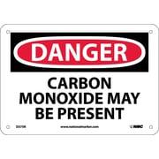 Danger, Carbon Monoxide May Be Present, 7X10, Rigid Plastic