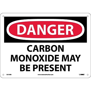 Danger, Carbon Monoxide May Be Present, 10X14, Rigid Plastic