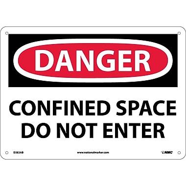 Danger, Confined Space Do Not Enter, 10X14, .040 Aluminum