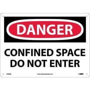 Danger, Confined Space Do Not Enter, 10X14, Fiberglass