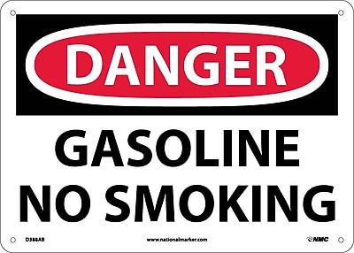 Danger, Gasoline No Smoking, 10X14, .040 Aluminum