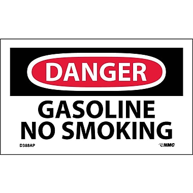Labels Danger, Gasoline No Smoking, 3