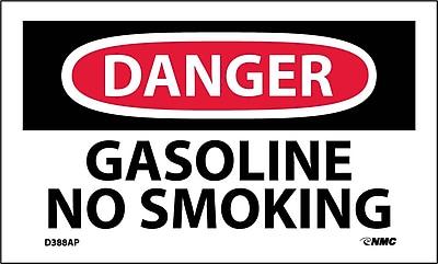 Labels - Danger, Gasoline No Smoking, 3X5, Adhesive Vinyl, 5/Pk