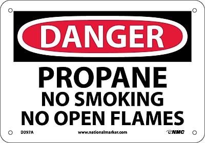 Danger, Propane No Smoking No Open Flames, 7X10, .040 Aluminum