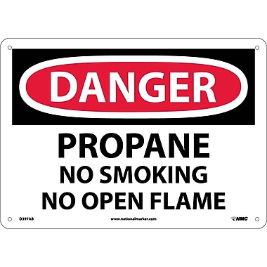Danger, Propane No Smoking No Open Flame, 10X14, .040 Aluminum