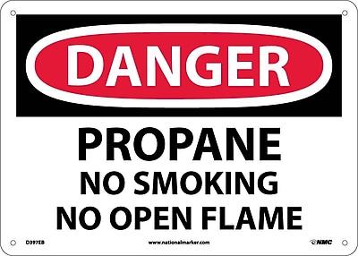 Danger, Propane No Smoking No Open Flame, 10X14, Fiberglass