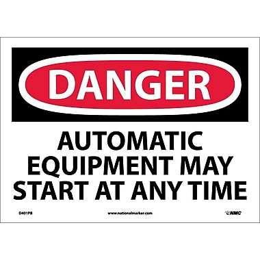 Danger, Automatic Equipment May Start At Anytime, 10