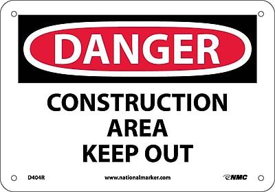 Danger, Construction Area Keep Out, 7X10, Rigid Plastic
