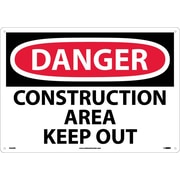 Danger, Construction Area Keep Out, 14X20, Rigid Plastic