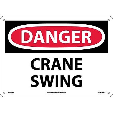 Danger, Crane Swing, 10X14, Fiberglass