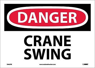 Danger, Crane Swing, 10X14, Adhesive Vinyl