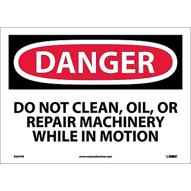 Danger, Do Not Clean Oil Or Repair Machinery, 10