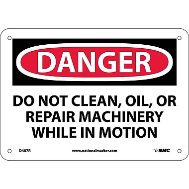 Danger, Do Not Clean Oil Or Repair Machinery, 7