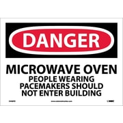 Danger, Microwave Oven People Wearing Pacemakers, 10X14, Adhesive Vinyl