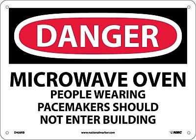 Danger, Microwave Oven People Wearing Pacemakers, 10X14, Rigid Plastic
