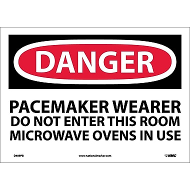 Danger, Pacemaker Wearer Do Not Enter This Room, 10X14, Adhesive Vinyl