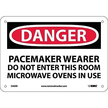 Danger, Pacemaker Wearer Do Not Enter This Room, 7X10, Rigid Plastic