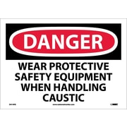 Danger, Wear Protective Safety Equipment When. . ., 10X14, Adhesive Vinyl