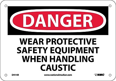 Danger, Wear Protective Safety Equipment When. . ., 7X10, Rigid Plastic