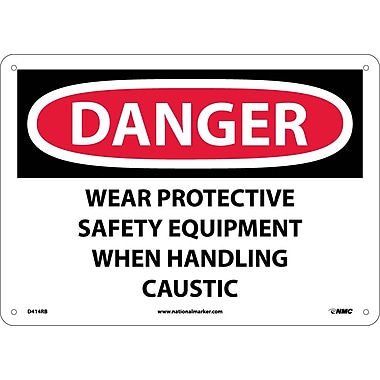 Danger, Wear Protective Safety Equipment When. . ., 10X14, Rigid Plastic