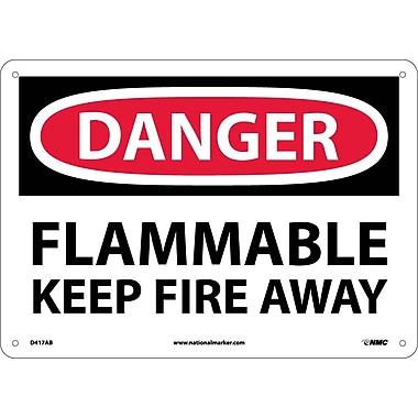 Danger, Flammable Keep Fire Away, 10