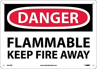Danger, Flammable Keep Fire Away, 10X14, .040 Aluminum