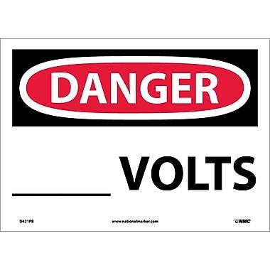 Danger, ____ Volts, 10