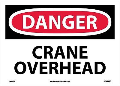 Danger, Crane Overhead, 10X14, Adhesive Vinyl