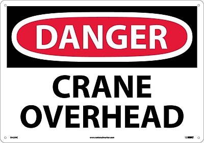 Danger, Crane Overhead, 14X20, Rigid Plastic
