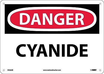 Danger, Cyanide, 10X14, .040 Aluminum