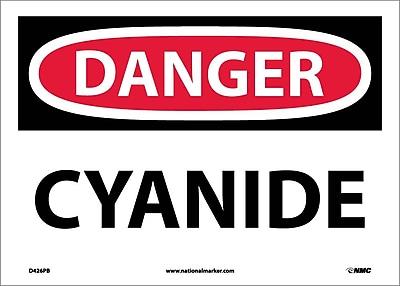 Danger, Cyanide, 10X14, Adhesive Vinyl