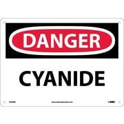 Danger, Cyanide, 10X14, Rigid Plastic