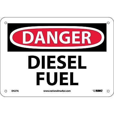 Danger, Diesel Fuel, 7X10, .040 Aluminum
