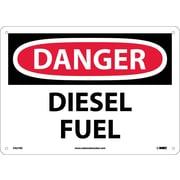 Danger, Diesel Fuel, 10X14, Fiberglass