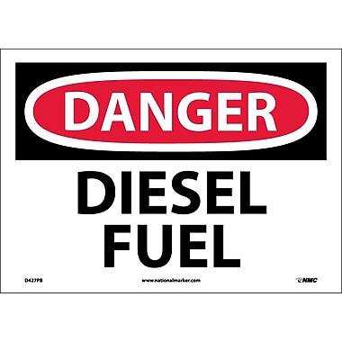 Danger, Diesel Fuel, 10X14, Adhesive Vinyl