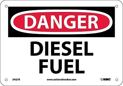 Danger, Diesel Fuel, 7X10, Rigid Plastic